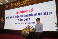 Ceremony on Awarding the Decision on Title Appointment of 2017 Professor, Associate Professor at Thuongmai University