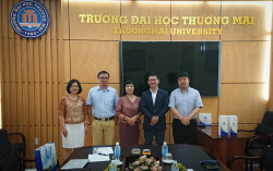 Thuongmai University receives and works with Dong-eui University, Korea